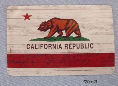 Souvenir playing card California bear flag design