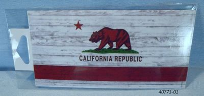 Half Sized bumpersticker decal California Bear Flag design.  Souvenir sticker.