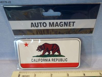 Souvenir flexible magnet California Bear Flag design.