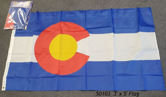 Colorado Souvenir Flag 3' x 5' poly bag header