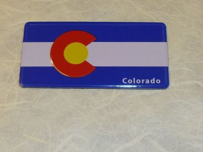 Colorado Flag Souvenir Magnet Embossed aluminum
