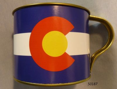 Colorado Flag Design souvenir tin cup