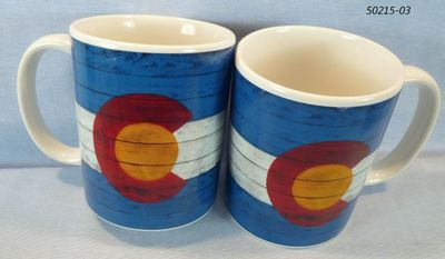 Colorado Flag planks design souvenir stoneware mug