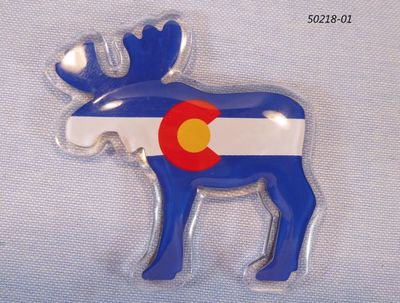 Colorado Souvenir Moose Shaped Flag magnet