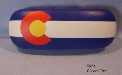 Glasses case Sunglass case with Colorado Flag design.