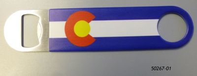 Souvenir Bottle Opener with Colorado Flag design