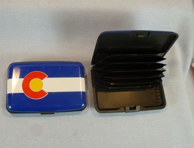Souvenir Hard Shell Wallet (RFID Blocking) with Colorado Flag design.