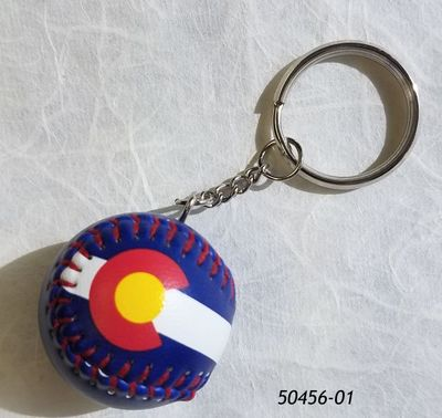 Mini Baseball Souvenir Keyring Colorado Flag design