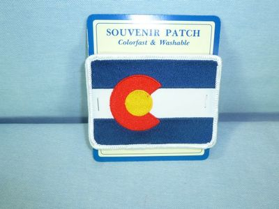 Embroidered patch, Colorado Flag souvenir design