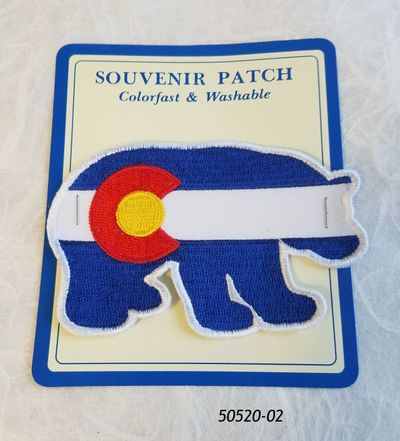 Colorado Souvenir Patch Bear Flag Design