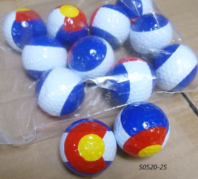 Colorado Flag design souvenir golf balls.