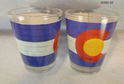 Colorado Flag Planks design souvenir shotglass