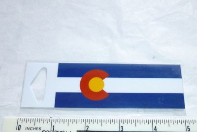 "Mini Colorado Souvenir Sticker Flag design 4"" x 1"""