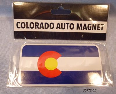 Colorado Flag Souvenir rubber magnet
