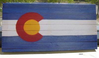 Souvenir Framed Canvas  Wall Hanging: Colorado Flag design.
