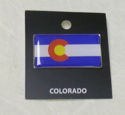 Souvenir Pin Hat Tack Colorado Flag design