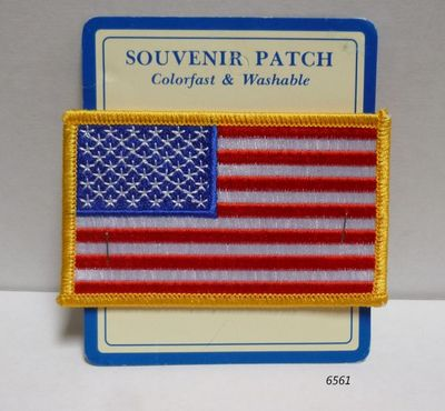 Souvenir Embroidered Patch USA Flag design